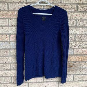 Calvin Klein dark Royal blue knit sweater top S